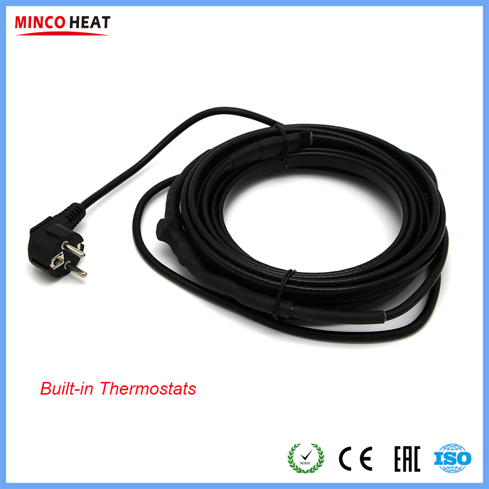 Built in Thermostat Pipes and Tanks Freeze Protection Heating Cable for Self Turning On or Off AutomaticallyWires & Cables   -