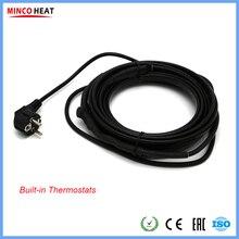 Tubos y tanques de termostato incorporados, Cable de calefacción con protección para encendido o apagado automático por giro automático