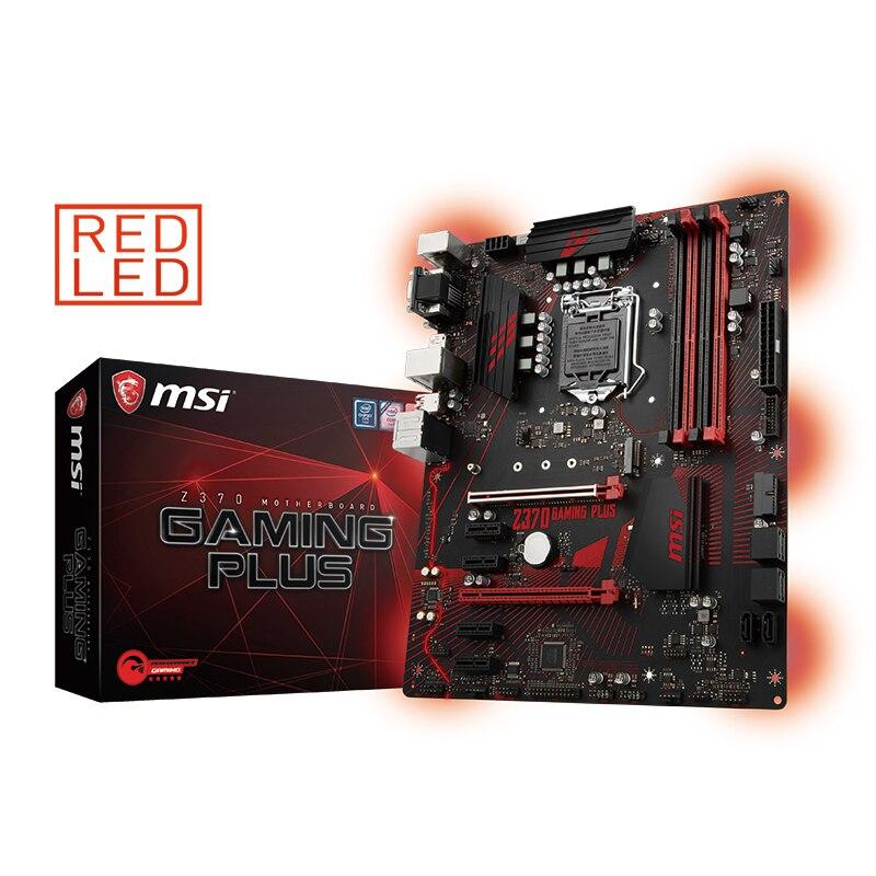 MSI Z370 игровой плюс игровой компьютер материнская плата поддерживает 8 серии Процессор I7 8700 К ...