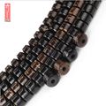 Wholesale 108pcs/thread Black Brown Natural Coconut Shell Beads Buddhism Mala Jewelry Spacer For Jewellery making DIY Necklace