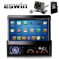"Android Single 1 Din 7"" Universal Touch screen Car DVD Player With GPS Navi Autoradio Stereo Car Audio TV Bluetooth Free Camera"