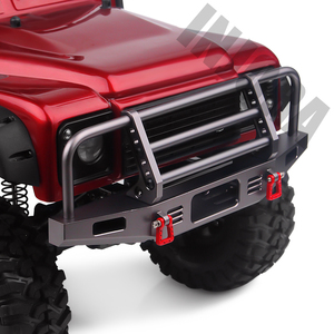 Image 4 - INJORA Adjustable Metal Front Bumper for 1/10 RC Crawler Traxxas TRX4 Defender Axial SCX10 SCX10 II 90046 90047