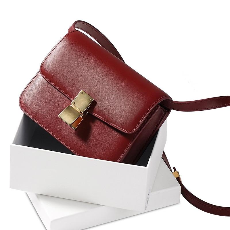 Brand Top Genuine Leather Luxury Shoulder Bag Fashion Women Crossbody Bag Summer New Female Upscale Shoulder