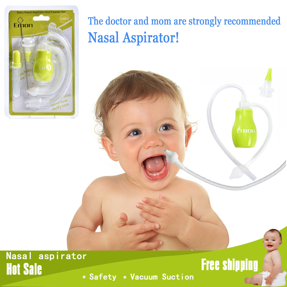 Emon Säkerhet nyfödd / Baby nasal rengörare Vakuumsugning antibackvash babyer Nasal aspirator för nyfödda barn nasal aspirator