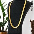 Alta qualidade Colar W1 ~ 1.4 CM L76CM 24 K banhado a Ouro Link Hip Hop Franco Cobra Cadeia de ESPINHA de peixe O MAIS CEDO POSSÍVEL ROCHOSO Mesmo Estilo Para estrela