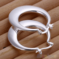 12 Pairs Fashion Women Lady Silver Plated Hoop Circle Dangle Party Earrings Jewelry