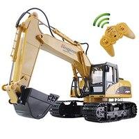 RC Excavadora 15CH 2.4G Control Remoto Carro de la Ingeniería de La Construcción de Modelo de Camión Excavadora Sobre Orugas Electrónica de Juguete