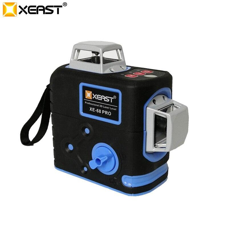 2019 XEAST Neue Freigegeben Unabhängige R & D Patentierte Professionelle 3D 12 Linien Laser Level XE-68R Pro Set 1