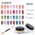 GLIMPSE Brand 3g jar 16colors magic nail glitter metal Chrome Pigment Sequins Mirror Powder nails art for gel nail polish