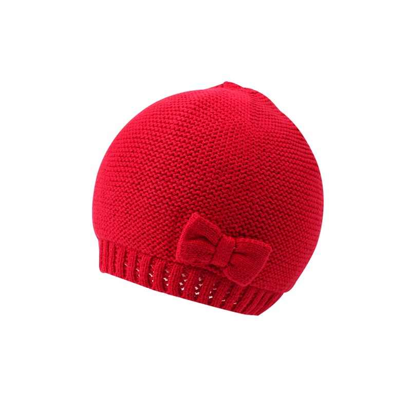 2a1aa778 ... Cute Baby Girls Beanie Hat Cotton Knitting Hat For Newborn Girls  Fashion Bow Infant Toddler Baby ...