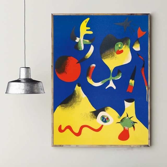 joan miro art oil painting poster prints home wall decor painting