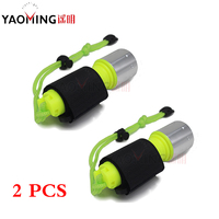 2PCS Scuba Diving Flashlight 18650 Light Dive Torch Powerful Cree LED XM T6 Underwater Flashlight Waterproof