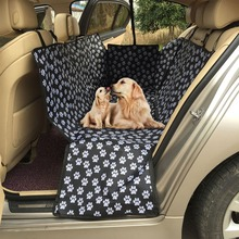 Pet Carriers Oxford Fabric Paw Pattern Car Pet Seat Cover Dog Car Back Seat Carrier Waterproof Pet Mat Hammock Cushion Protector pet carriers oxford fabric pet car seat cover dog car back seat carrier waterproof pet mat hammock cushion protector