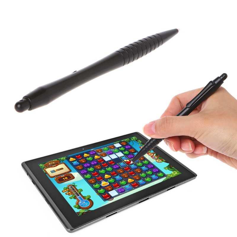 1 قطعة أسود قلم بلاستيكي ل لعبة فيديو لاعب مقاوم شاشة تعمل باللمس ستايلس القلم