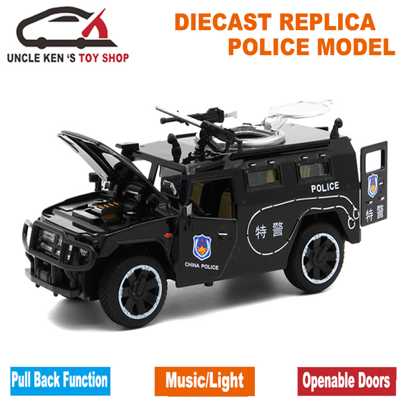 1/32 Scale Model Diecast GAZ Tiger, 15Cm metala replika automobila, - Dječja i igračka vozila - Foto 4