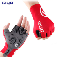 цена на GIYO anti-skid bicycle gloves short half finger riding gloves breathable outdoor sports men's mountain bike bicycle gloves