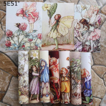 Flower Elf  Digital Printing/Handmade cloth DIY cotton canvas fabric/Home decoration positioning