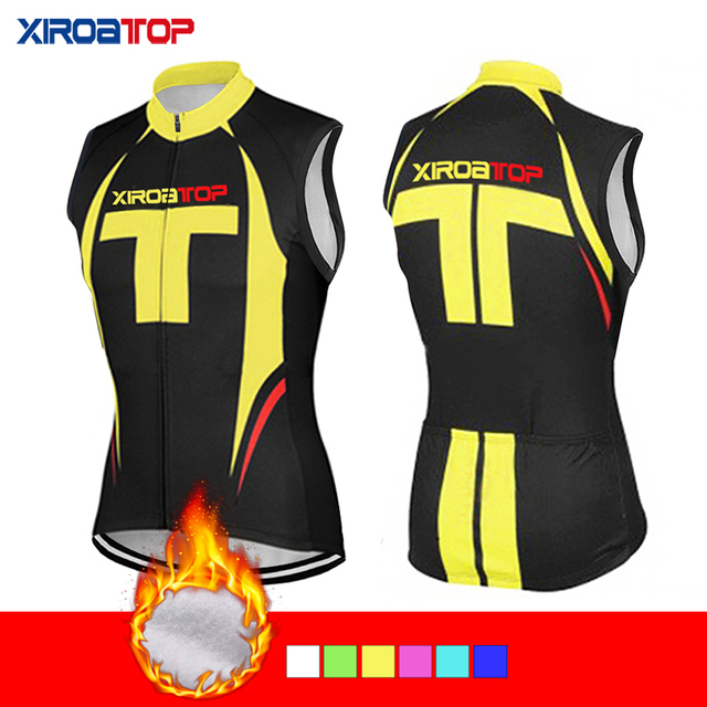 Men Women Winter Thermal Fleece Sleeveless Cycling Vests Jersey Keep warm  MTB Bicycle Clothes Ropa Maillot Ciclismo Bike vest 691ad54dc