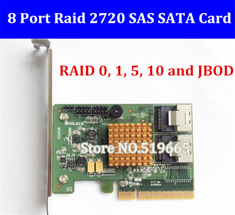 New RAID 88SE9485 2720SGL 8-Port SAS SATA 6Gb/s PCIe 2.0 x8 RAID0, 1, 5, 10 and JBOD HBA card for Mac Pro 10.7-10.13 контроллер lenovo 6gb sas 4 port host interface card 00mj093