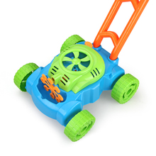 Automatic Hand Push Bubble Mower Car Baby Walker Outdoor Soap Bubbles Maker