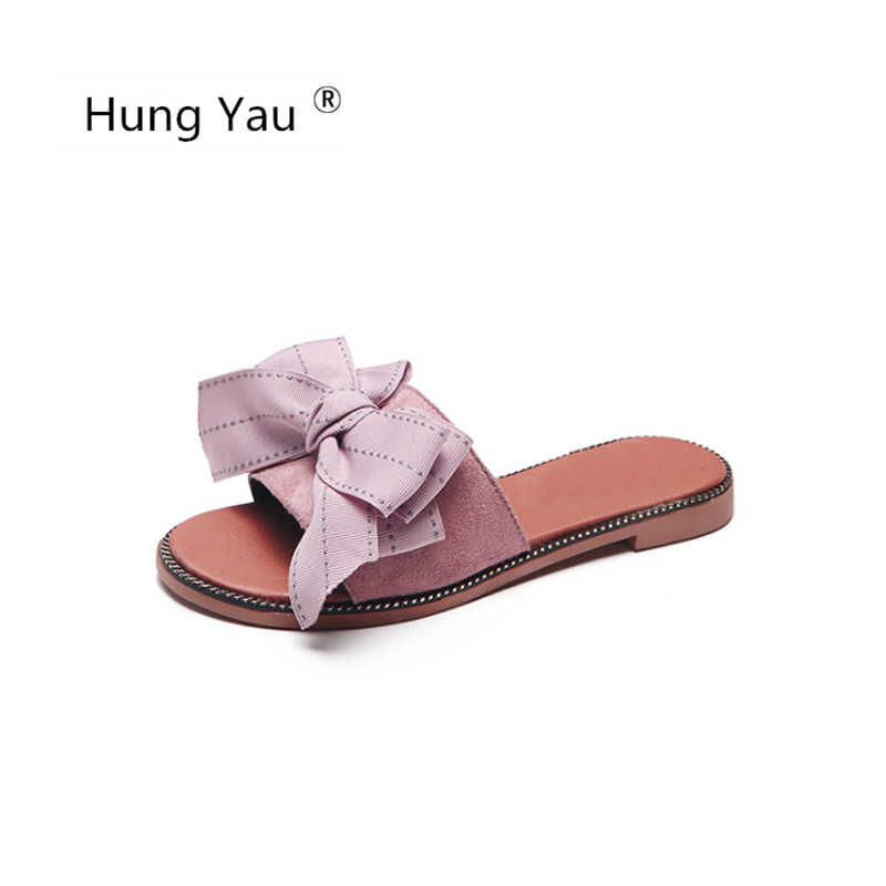 f45fc7c18c8e9d Hung Yau Shoes For Women Sandals Flips Flops Summer Shoes Woman Sliper  Sandals Fashion Bow-