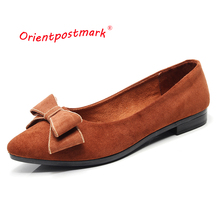 OrientPostMark Women Ballet Flats Shoes Womens Pregnant Boat for Work Cloth Sweet Loafers Slip On