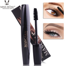 MISS ROSE Big Eye Thick Mascara Black False Fiber Lashes Eyelashes Mascara 3D Eyelash Lengthening Curling Eyes Waterproof Gel exaggerated eye tail lengthening thick reusable false eyelashes