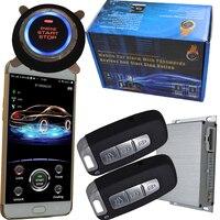 gps car alarm smart phone app auto ignition system keyless entry central control car door lock or unlock push engine start stop