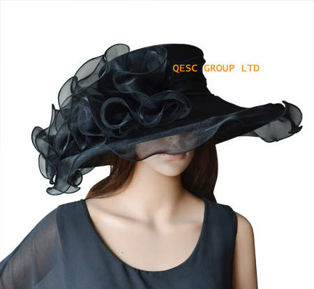 529d73e86 US $26.0 |NEW Black Crystal Organza Hat Church Hat,Kentucky Derby  Hat,Wedding Hat.-in Fedoras from Apparel Accessories on Aliexpress.com |  Alibaba ...