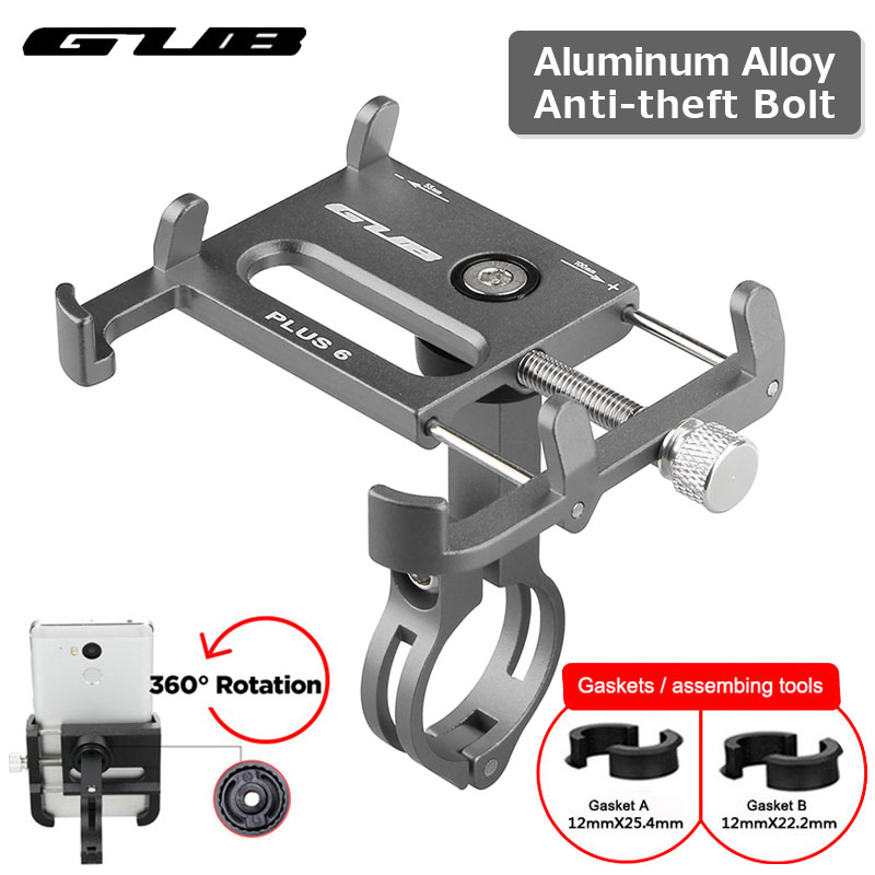 Aluminum Bicycle Phone Holder MTB Road Motorcycle Handlebar Clip Stand For 3.5-6.2″ Smart Phone For iPhone Xs Max Xiaomi Samsung