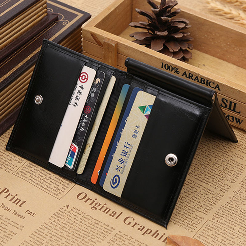 Ny Brand Luxury Business Man pengar klipp plånbok med metall klämma - Plånböcker - Foto 6