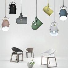 Скандинавский минимализм подвесной светильник регулируемый угол E27 небольшой подвесной светильник s, домашний декор светильник ing лампа и бар витрина точечный светильник