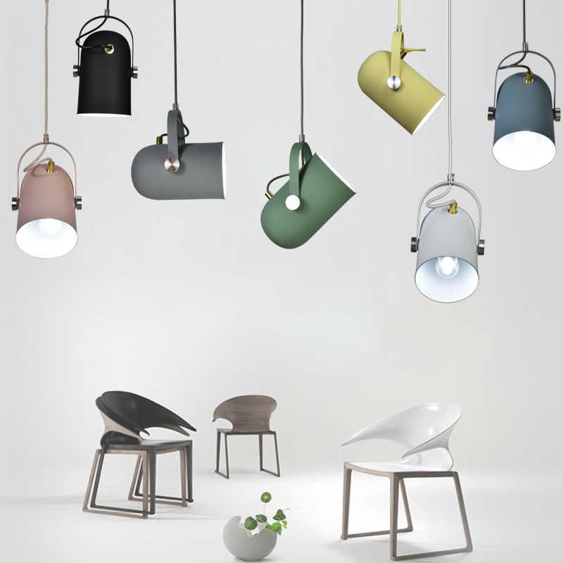 Скандинавский минимализм, регулируемый угол поворота E27, маленькие подвесные светильники, домашний декор, осветительная лампа и барная витрина, точечный свет
