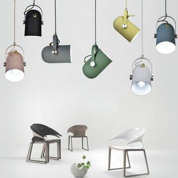 Luces colgantes pequeñas E27 ajustables en ángulo, minimalismo nórdico, lámpara de iluminación para decoración del hogar y luz de punto de exposición para Bar