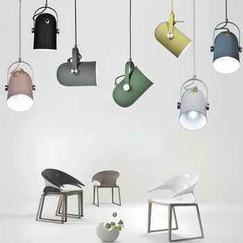 Minimalisme nordique Angle droit réglable E27 petites lampes suspendues, lampe déclairage de décor à la maison et barre vitrine spot