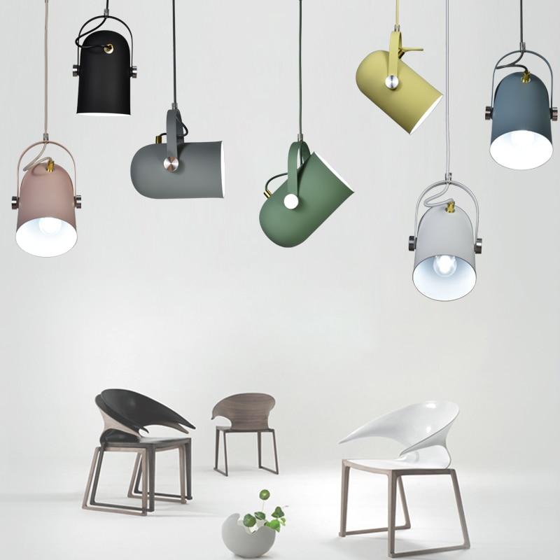 Nordic contracted droplight Angle adjustable E27 small pendant lights, Home decor lighting lamps and lanterns