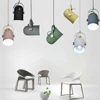 Nordic minimalismo droplight ângulo ajustável e27 pequenas luzes pingente, decoração de casa lâmpada iluminação e barra vitrine luz do ponto