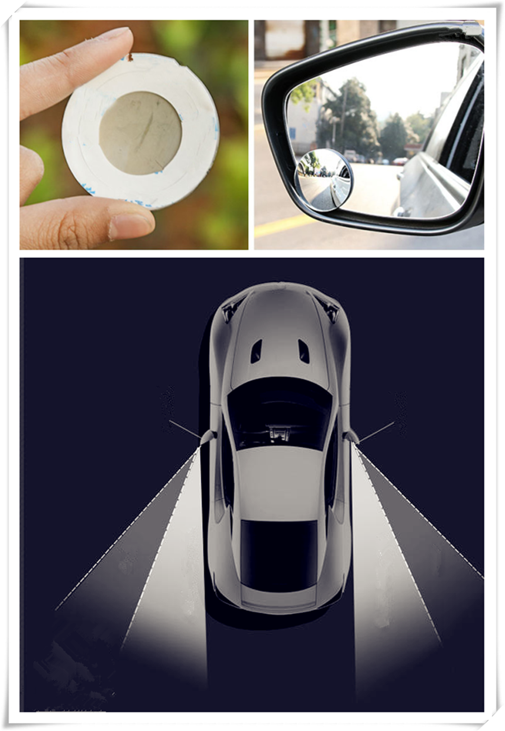Car rear view wide angle lens assisted blind spot mirror for volvo universe c30 s80l