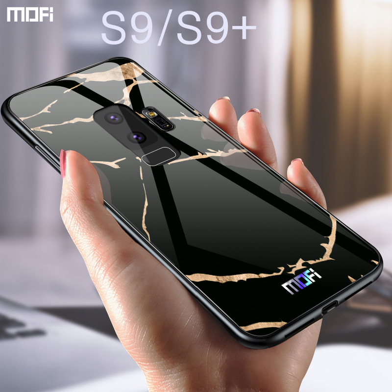 For samsung s9 case Mofi for samsung s9 plus case glass hard case for samsung s9 marble  ...