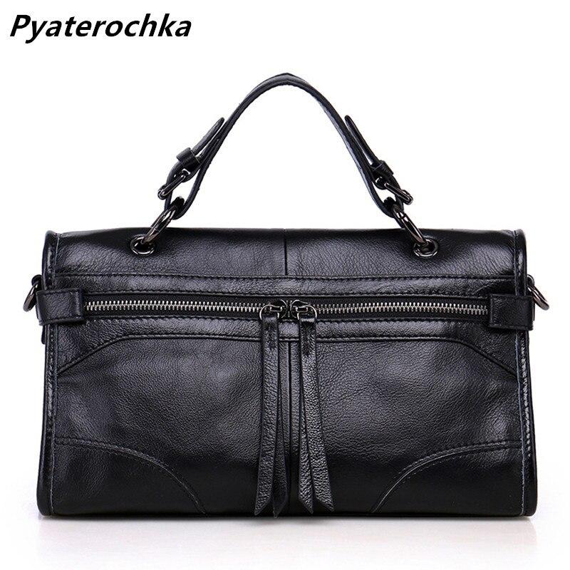 Pyaterochka Women Handbag Genuine Leather Shoulder Bag Famous Brand Luxury Ladies Hand Bags Cheap High Quality