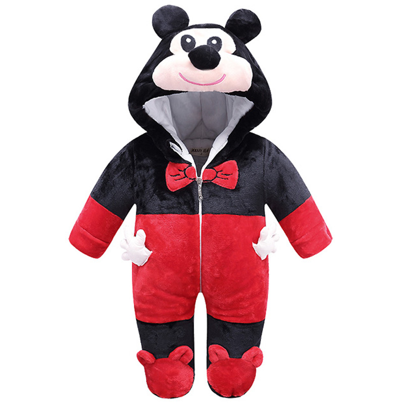 Lovely Christmas Baby Animal Infant Romper Jumpsuit Newborn Baby Warm Costume Soft Winter Flannel Clothes Baby Jumpsuits Pajamas puseky 2017 infant romper baby boys girls jumpsuit newborn bebe clothing hooded toddler baby clothes cute panda romper costumes