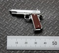 "1/6 Scale Silver M1911 Plastic Pistol Weapons for 12"" Collectible Action Figure DIY"