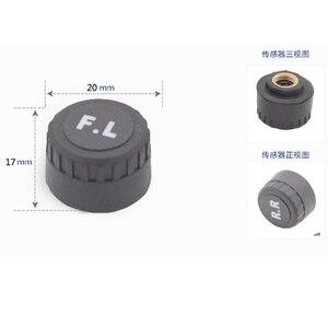Image 2 - Système de contrôle de pression des pneus, sécurité, capteur Tpms, pour voiture, solaire intelligent, sans fil, 4 roues externes