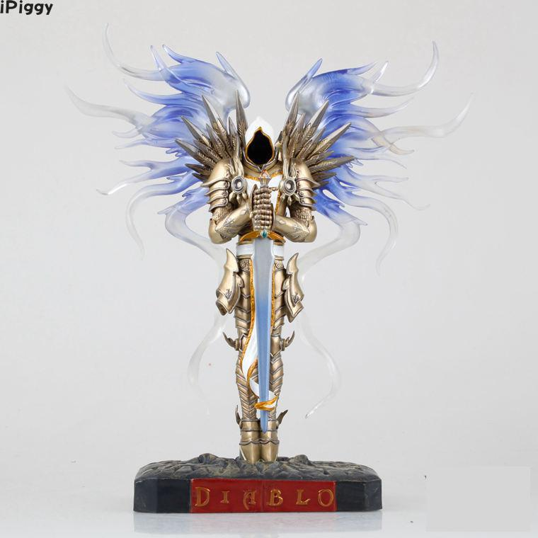 iPiggy 28cm WOW Dark Seraphim Tyrael Archangel PVC Action Figure Toys Gifts Model Collections Free Shipping