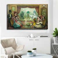 Mark Ryden The Parlor HD настенный художественный холст постер и печать холст Картина декоративная картина для офиса гостиной домашний декор