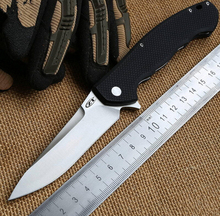 Hot!! High Quality 59-60HRC Tactical Flipper folding knife 9Cr18MoV blade G10 handle hunting camping outdoor tools