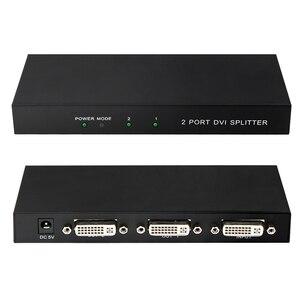 Сплиттер 1X2 DVI разделяет один видеосигнал на два выходных сигнала DVI, сплиттер DVI с 2 портами для монитора компьютерного проектора