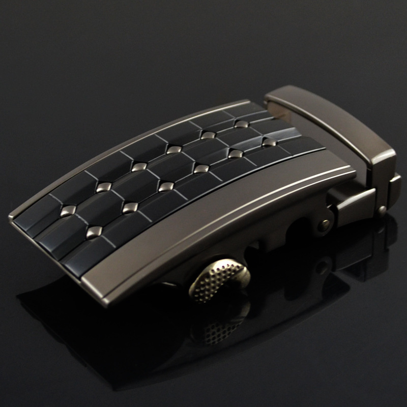 Genuine Men's Belt Head, Belt Buckle, Leisure Belt Head Business Accessories Automatic Buckle Width 3.5CM Belts LY125-0359