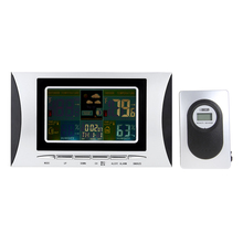 Discount! Digital Thermometer Hygrometer weather station Alarm Clock temperature gauge Colorful LCD Calendar 433MHz Barometer