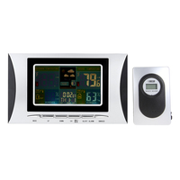Kỹ thuật số Nhiệt Kế Đo Độ Ẩm trạm thời tiết Đồng Hồ Báo Thức nhiệt độ đo LCD Đầy Màu Sắc Lịch 433 MHz Barometer